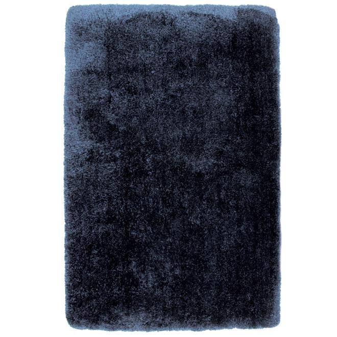 Tapis décoratif Monti, 4' x 6', bleu nuit