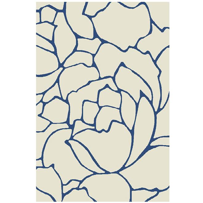 """Tapis décoratif Daphne, couleur lin, 5' 3"""" x 7' 5"""""""