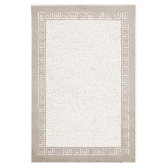 """Tapis décoratif Athena, couleur lin, 5' 3"""" x 7' 5"""""""