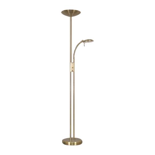 """Lampe torchère 72"""", métal fusil"""