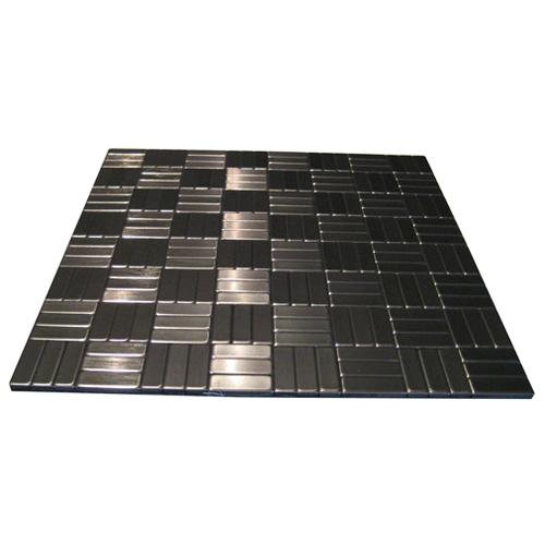Carreaux muraux pour dosseret SpeedTiles, autocollant, métal, 11,5 po l. x 11,5 po L. x 5 mm de diamètre