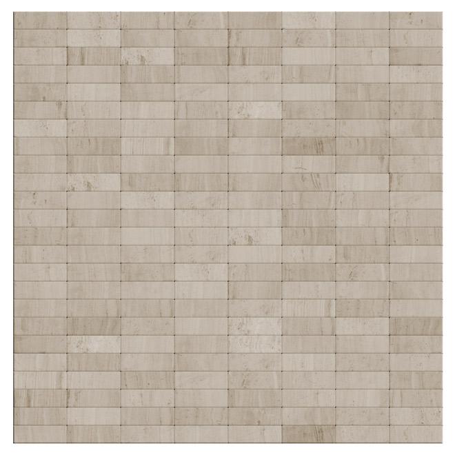 Carreaux autoadhésifs en pierre marbrée Snowy de SpeedTiles, 11,4 po l. x 11,6 po L. x 5 mm p., 12 pièces