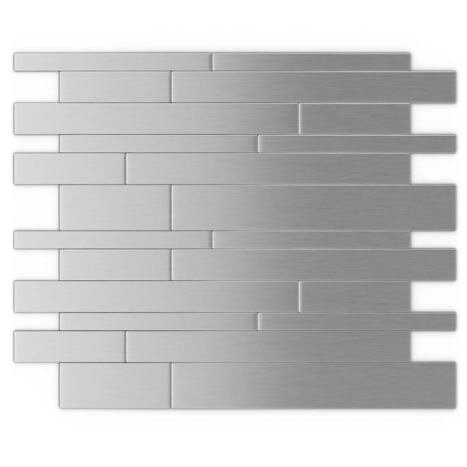 Tuile de métal autoadhésive Murano S2, acier inoxydable