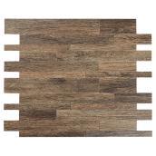 Tuile de métal autoadhésive Murano W, couleur bois