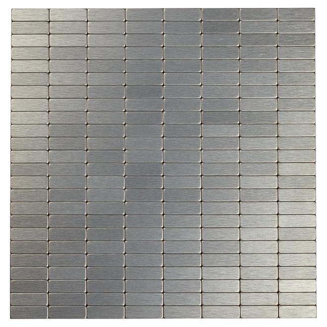 Carreaux muraux en métal à salle de bain SpeedTiles, Urbain DG, mosaïque autoadhésive, 11,4 po l. x 11,6 po L. x 5 mm p.