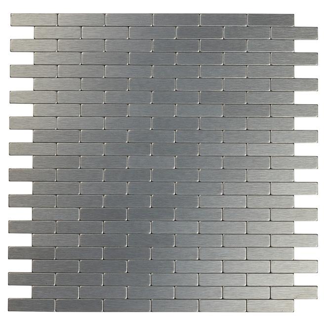 Tuile de métal autoadhésive Bricky DG, gris foncé