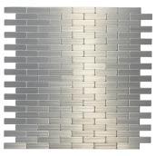 Tuile de métal autoadhésive Bricky S2, acier inoxydable