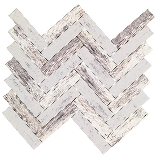 Rustica Self-Adhesive Glass Tiles - 12/Box - Wood