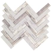 Rustica Self-Adhesive Glass Tiles - 12/Box - Wood