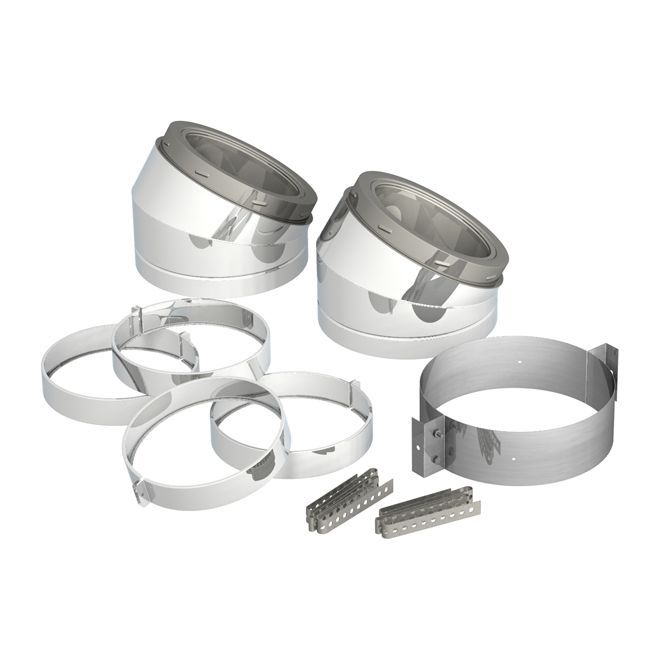 """Elbow Kit for 6"""" Chimney - 30° - 7 Pieces"""
