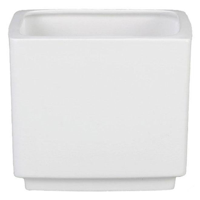 Cache-pot carré « Panna » en céramique 6 po, blanc