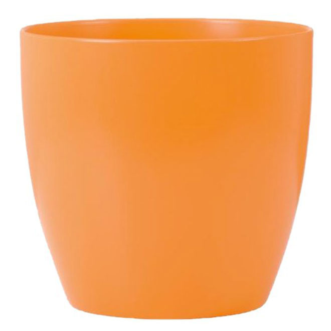 Cache-pot en céramique 8 po, orange