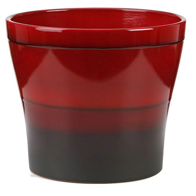 Cache-pot « Mars » en céramique 6 po, rouge
