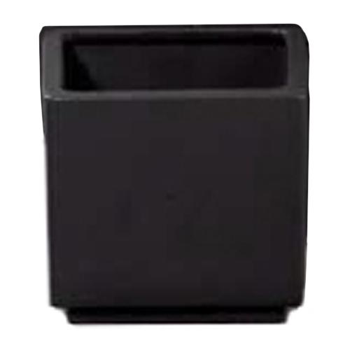 Cache-pot carré en céramique 6 po, noir