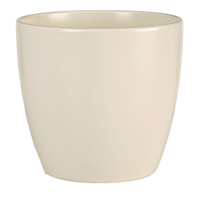 Cache-pot en céramique 14cm - Crème