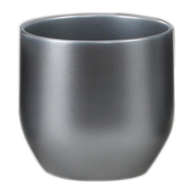 Cache-pot en céramique 16cm - Graphite