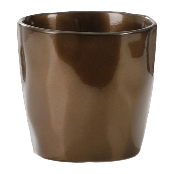 Cache-pot en céramique 14cm - Bronze