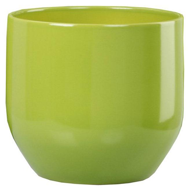 Cache-pots en céramique 10 po, vert pur