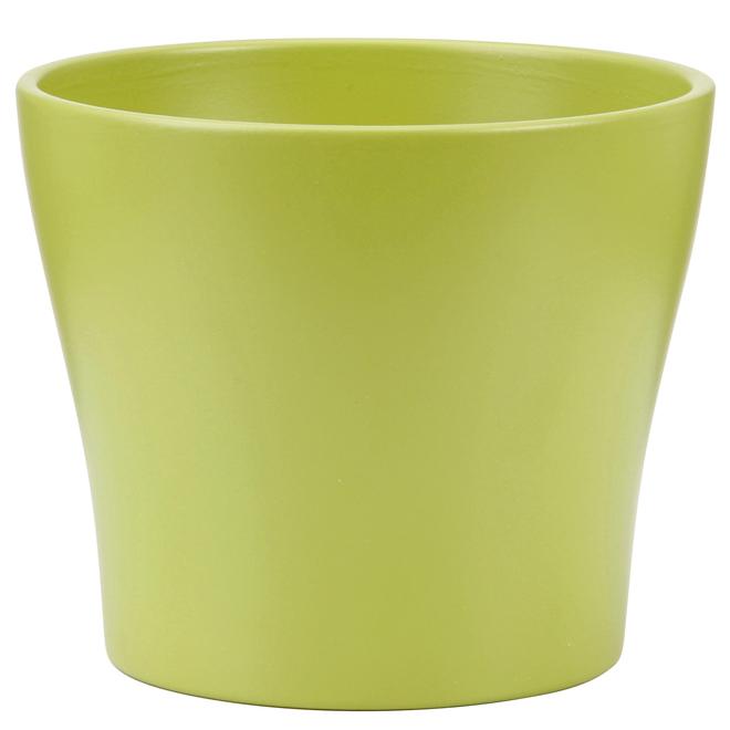 Cache-pot en céramique 17 cm, vert