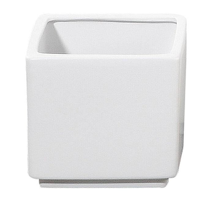 Cache-pot carré « Panna » en céramique 7 po, blanc