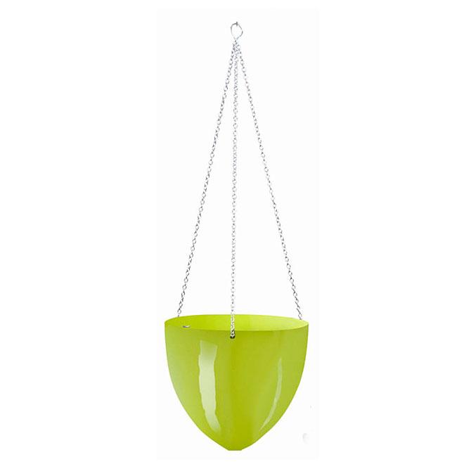 Pot suspendu en plastique 20cm - Vert lime