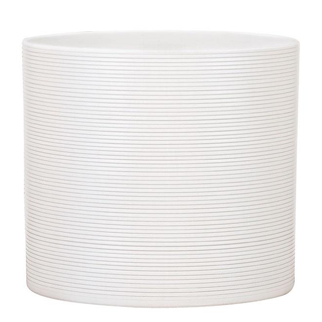 Scheurich Pot Cover - Ceramic - 6.3-in - Panna White