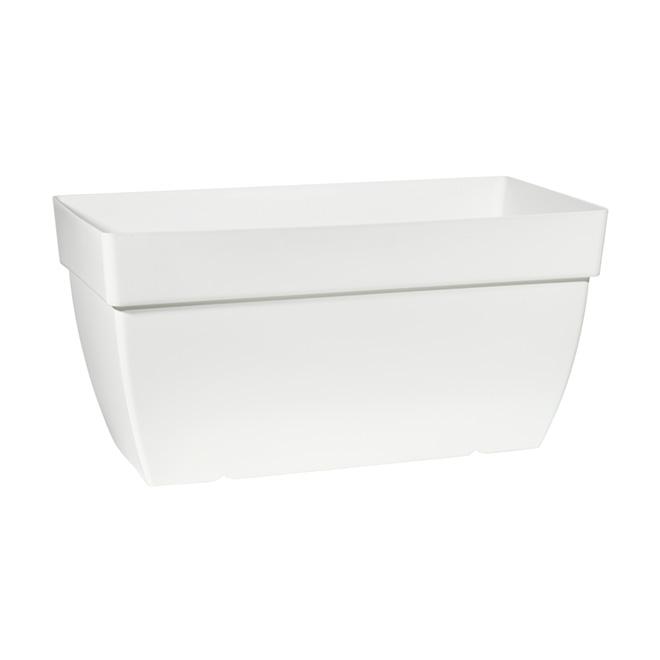 Jardinière en plastique «Capri» 80 cm - Blanc