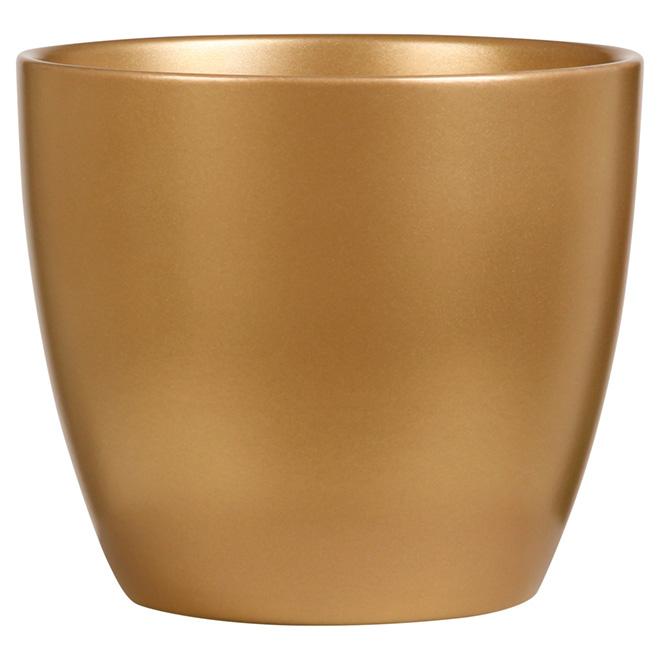 Cache-pot en céramique de 6po, or