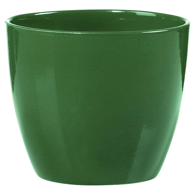 Cache-pot en céramique de 6po, vert