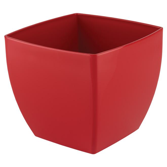 Cache-pot en plastique «Siena» 14cm - Rouge