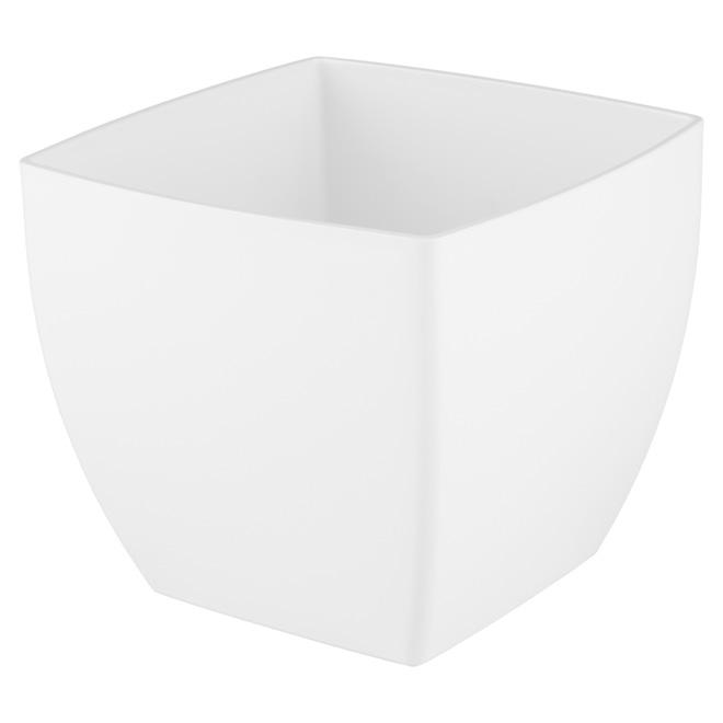 Cache-pot en plastique «Siena» 20cm - Blanc