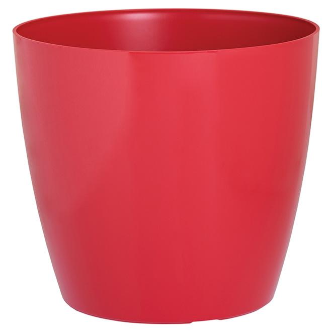 Jardinière en plastique « San Remo », 11,8 po, rouge