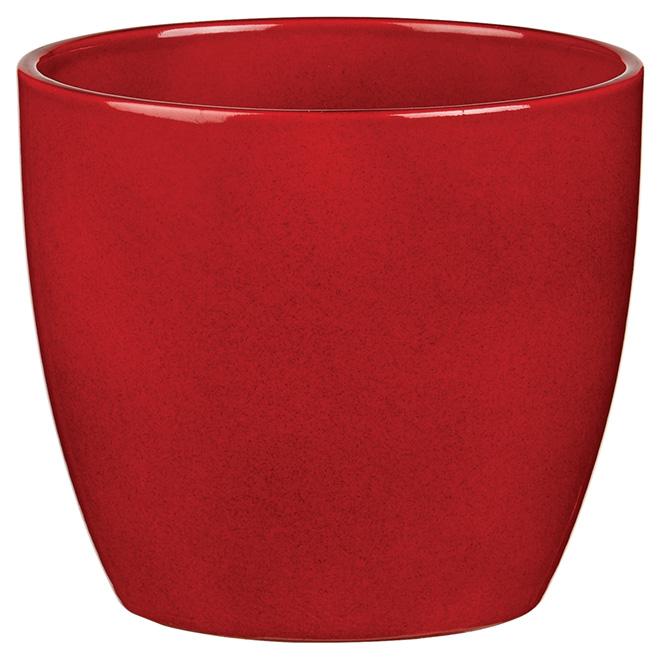 Cache-pot en céramique, 5 po, rouge foncé