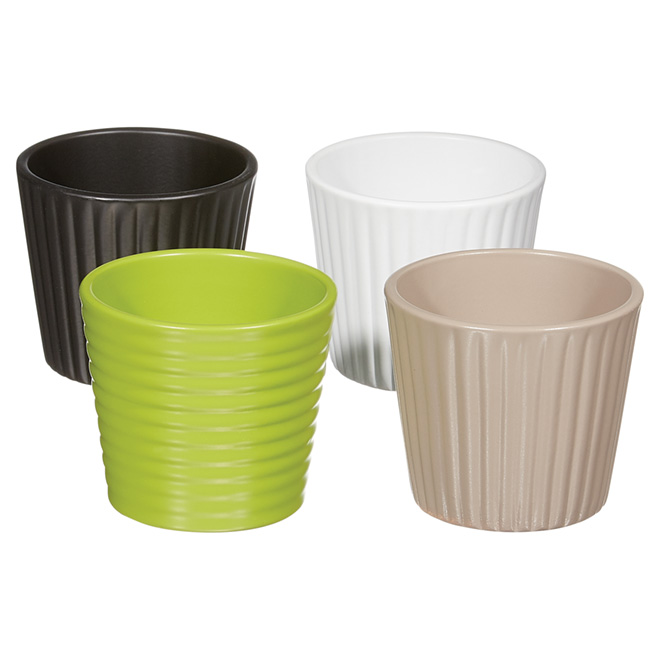 Mini-cache-pot en céramique 608, 3,5 po, assortiment