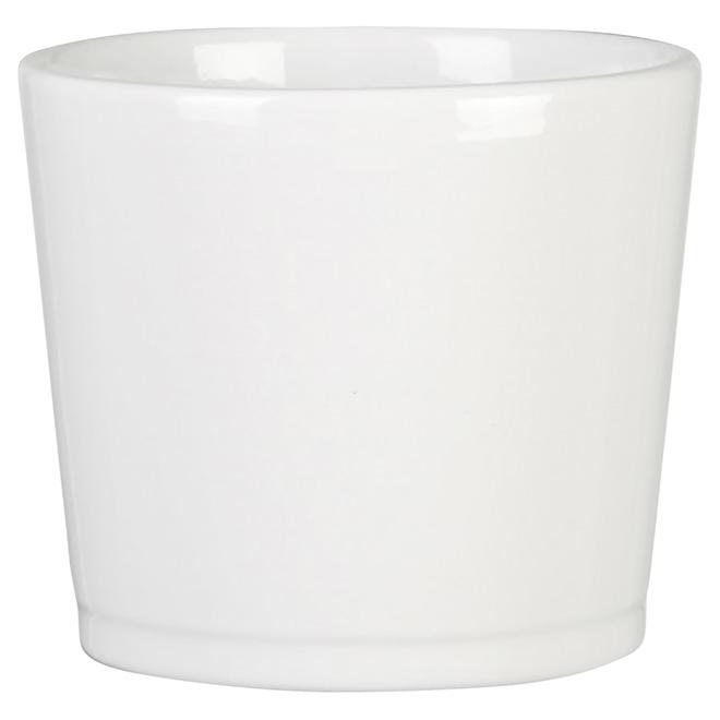 Cache-pot en céramique 883, 11 po, blanc