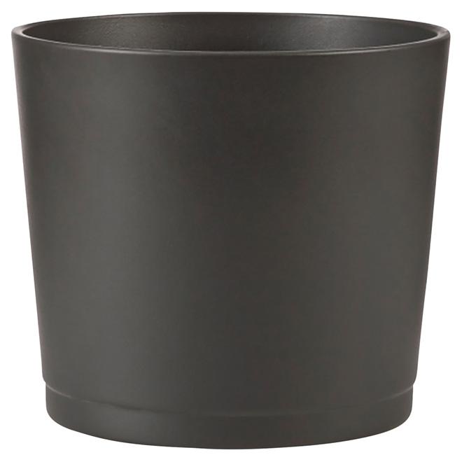 Cache-pot en céramique 883, 6,6 po, noir