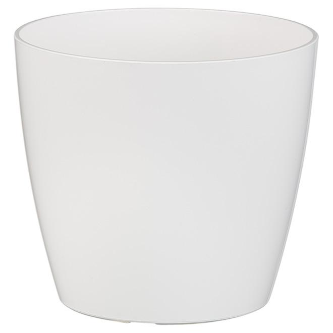 Cache-pot « San Remo », 6 po, blanc