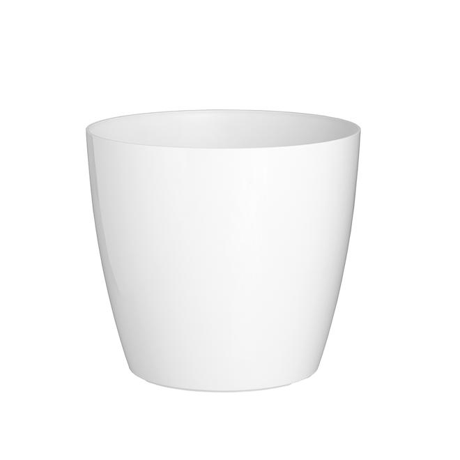 Arte Vasi Cover Pot with Wheels - San Remo - 14-in - White