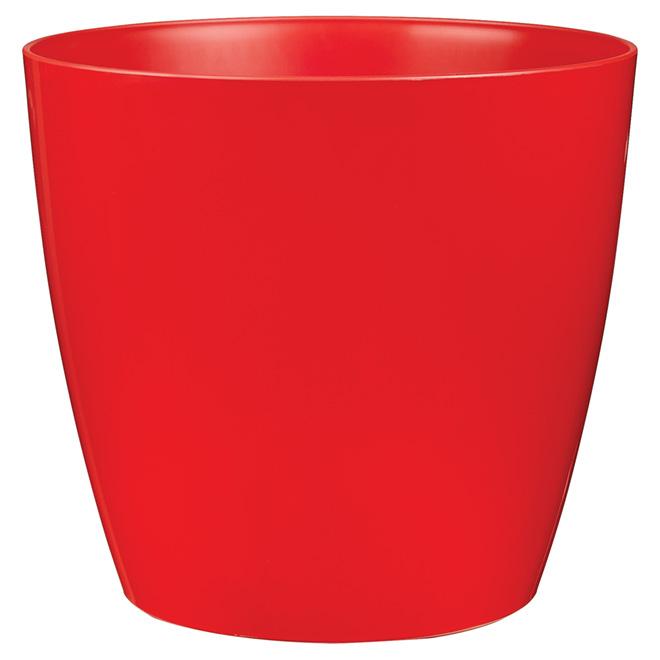 Cache-pot sur roues « San Remo », 14 po, rouge