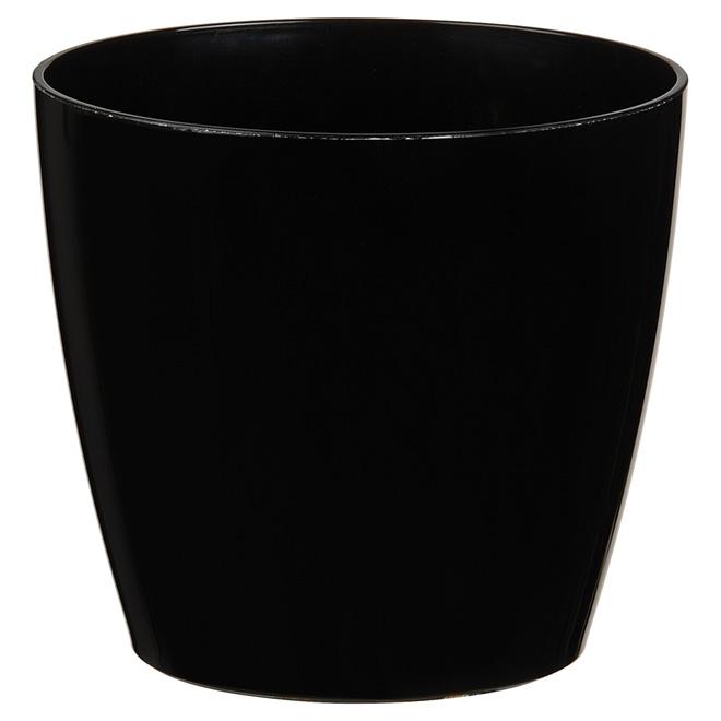 Cache-pot « San Remo », 6 po, noir