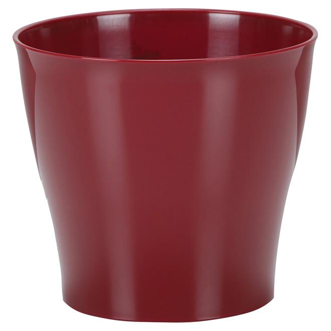 Cache-pot en plastique, 5 po, rouge