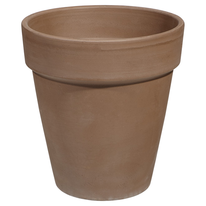 Pot de grès allongé, 22 cm, moka