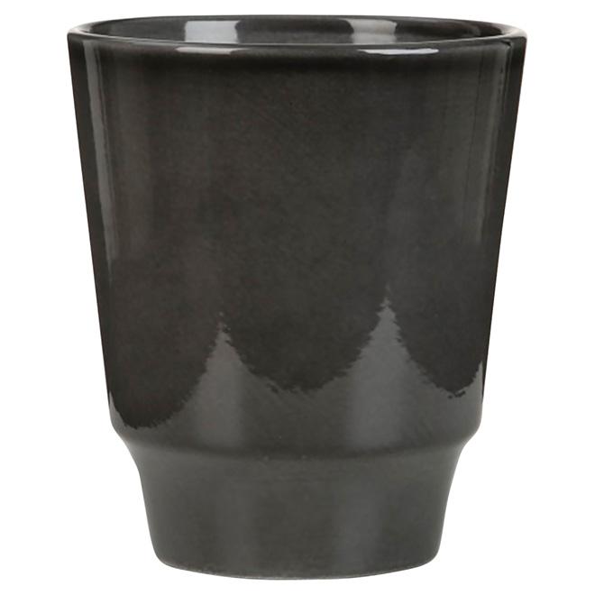 """Cache-pot pour orchidées, 631, 4 3/4"""", gris foncé"""
