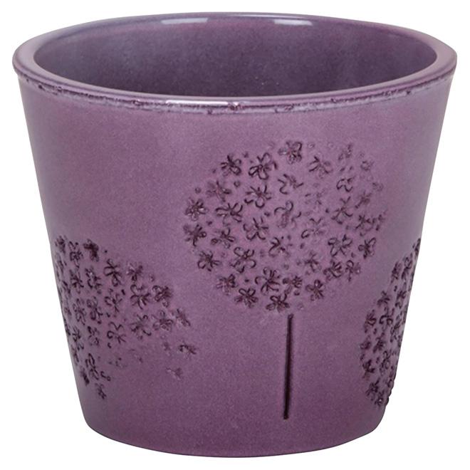 """Cache-pot en céramique, 707, 6"""", violet"""