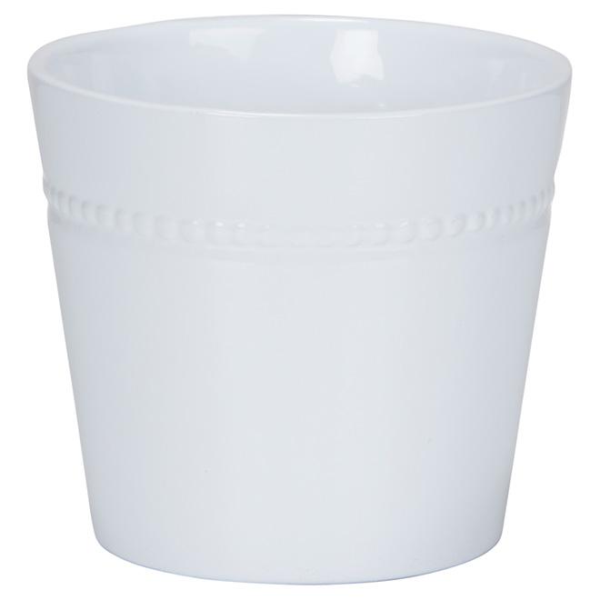 """Cache-pot en céramique, 6"""", blanc"""