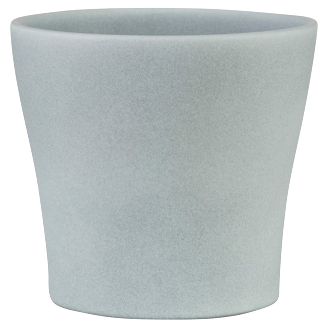 """Cache-pot en céramique, 808, 6 3/4"""", gris"""