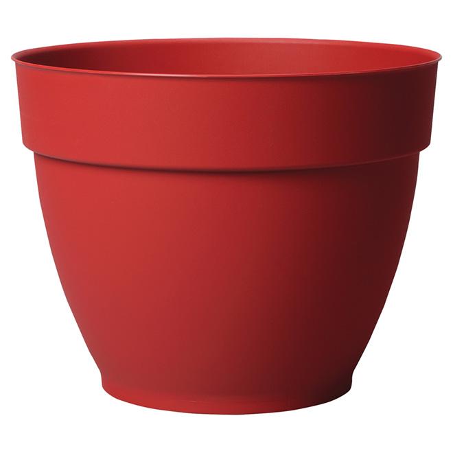 """Jardinière en plastique, Ninfea, 13 1/2"""", rouge"""