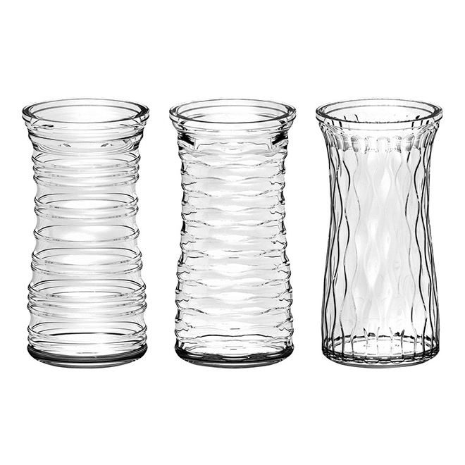 Clear Glass Vase 85 Assorted Design Rona