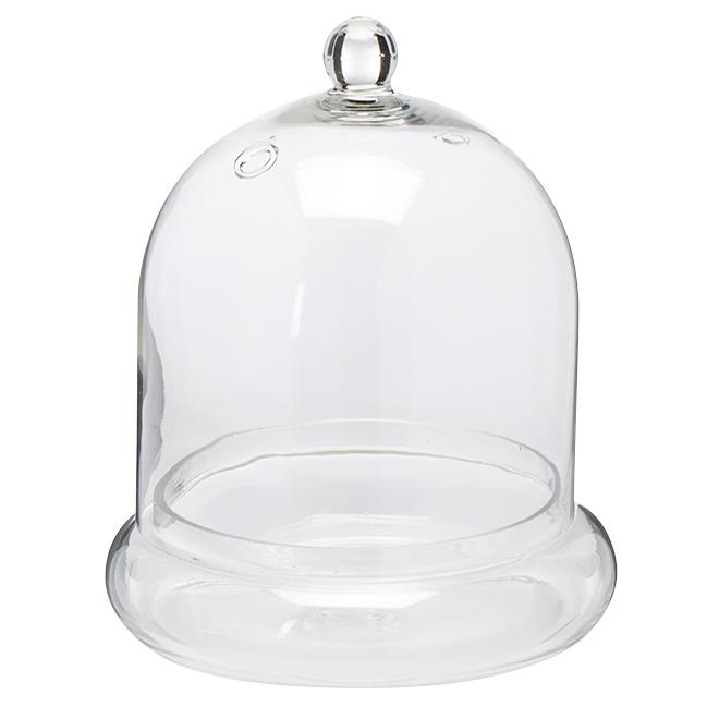"""Vase en forme de cloche, verre transparent, 7"""""""