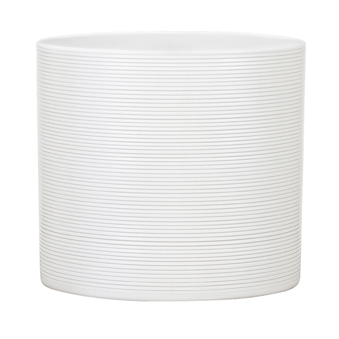 "Cache-pot en céramique, 5 1/2"", blanc Panna"